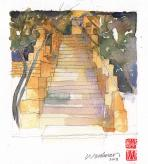 climb into the heart of life (the vihara steps)