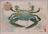 blue swimmer crab on old chart